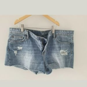 Womens gap distressed jean shorts